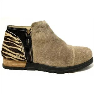 Sorel Major Zebra Suede Low Premium Ankle Boots